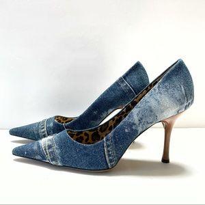 Dolce & Gabbana Denim Stilettos, 8.5, New